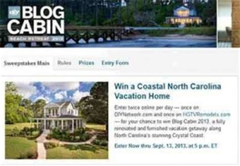 Diy Blog Cabin 2020 Sweepstakes Entry