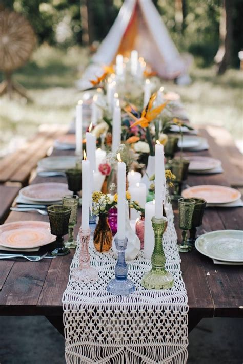 Diy Boho Table Runners For Weddings