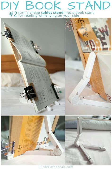 Diy Book Holder For Bed