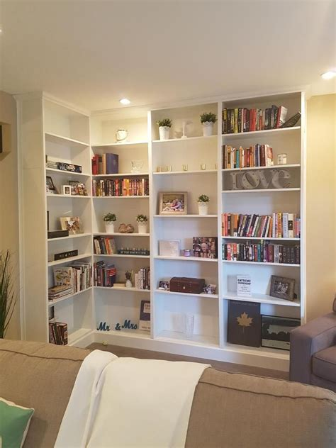 Diy Book Shelf Against Wall