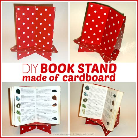 Diy Book Stand Cardboard Recycling