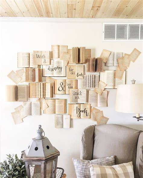 Diy Book Wall Art