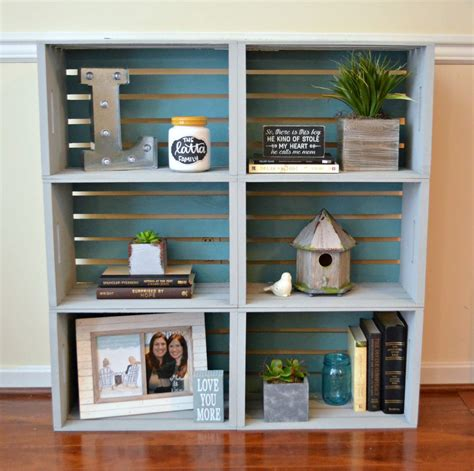 Diy Bookcase Wood And Decorative Metal Sheet
