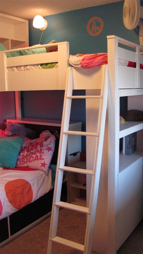 Diy Bookshelf Loft Bed