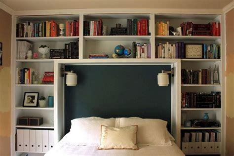 Diy Bookshelves Around Bed