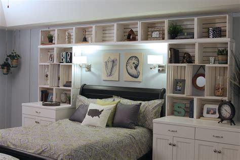 Diy Bookshelves Around Bed Shelves