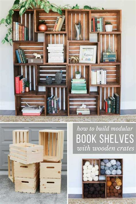 Diy Bookshelves Out Of Crates