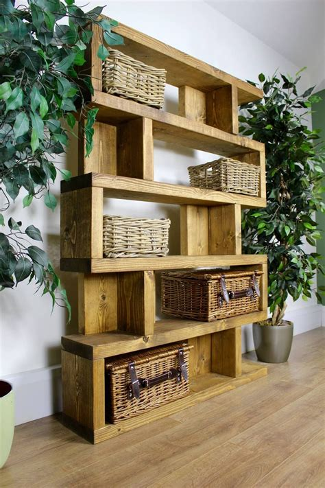 Diy Bookshelves Rustic Look