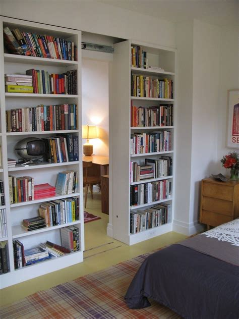 Diy Bookshelves With Sliding Doors