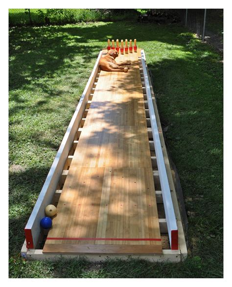 Diy Bowling Alley Backyard