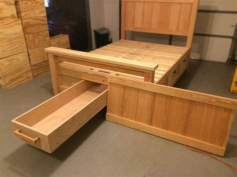 Diy Box Bed With Drawers