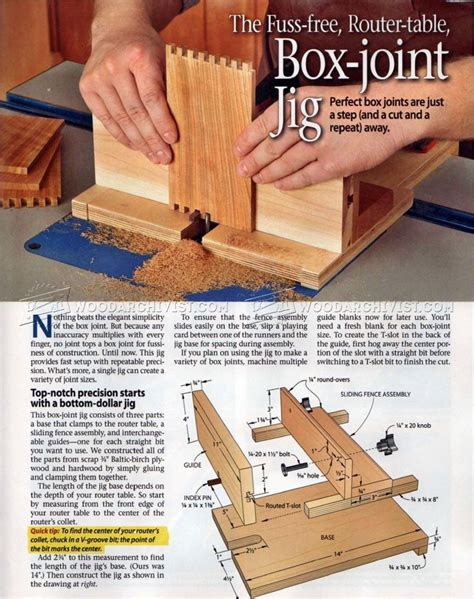 Diy Box Joint Router Jig Plans