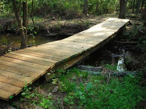 Diy Bridge Across Stock Pond