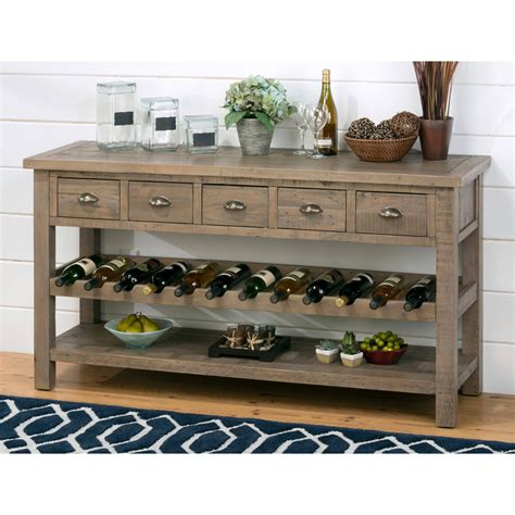 Diy Buffet Table With Wine Rack