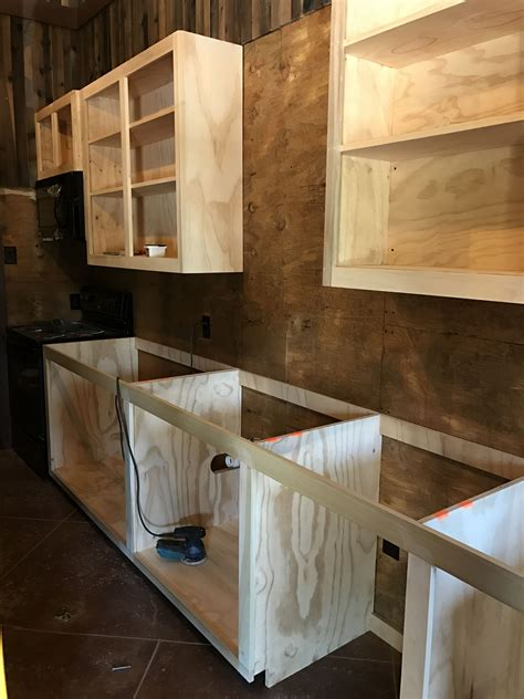 Diy Build Simple Plywood Kitchen Cabinets