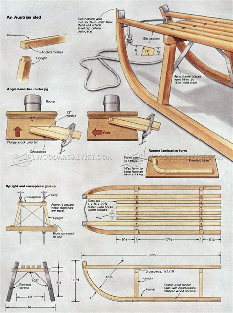 Diy Build Wooden Sleigh Plans