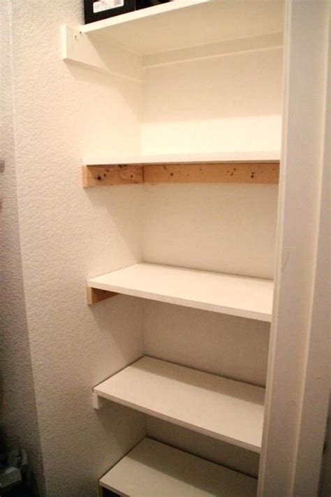 Diy Building Shelves In A Closet