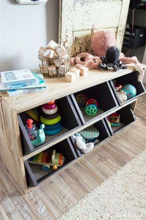 Diy Building Storage Shelves For Toys