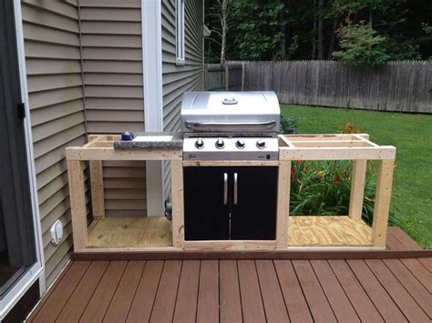 Diy Built In Barbecue Grill Wood Deck