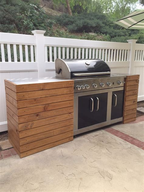 Diy Built In Bbq Wood