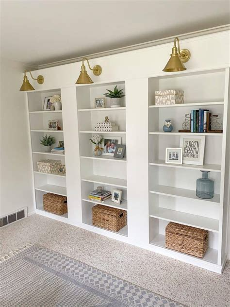 Diy Built In Bookcase Billy