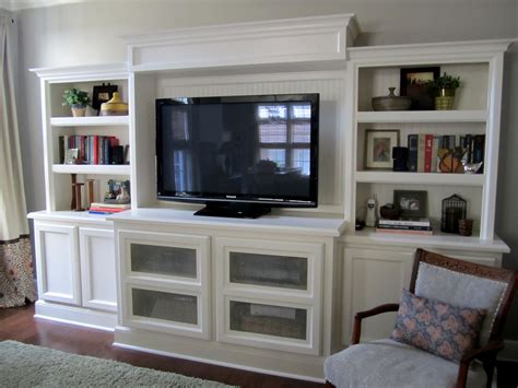 Diy Built In Bookcase Entertainment Center