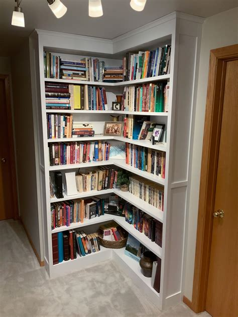 Diy Built In Corner Bookcase Plans