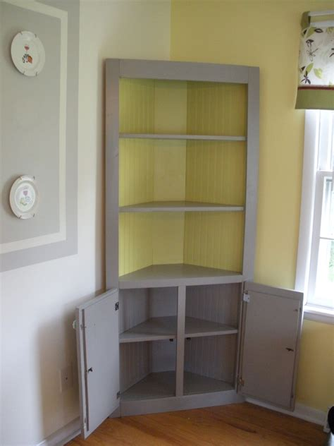 Diy Built In Corner Hutch