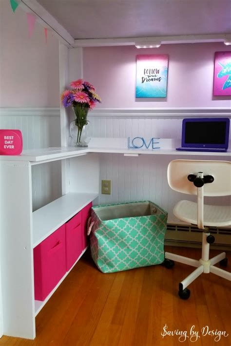 Diy Built In Loft Bed With Desk
