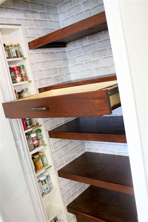Diy Built In Pantry Shelves