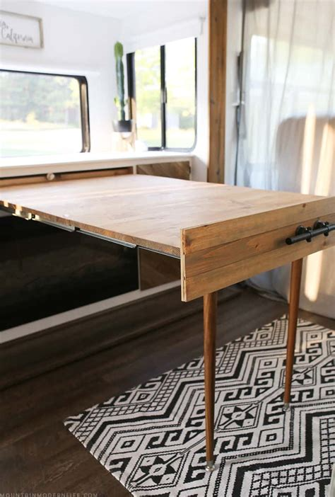 Diy Built In Pull Out Table