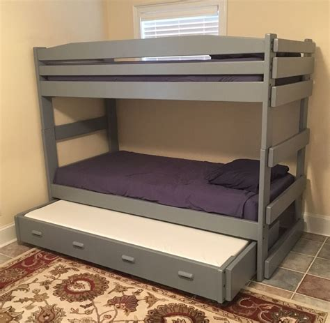Diy Bunk Bed With Trundle Plans