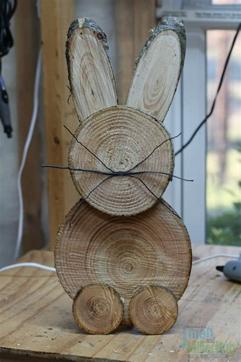 Diy Bunny Made Out Of Wood