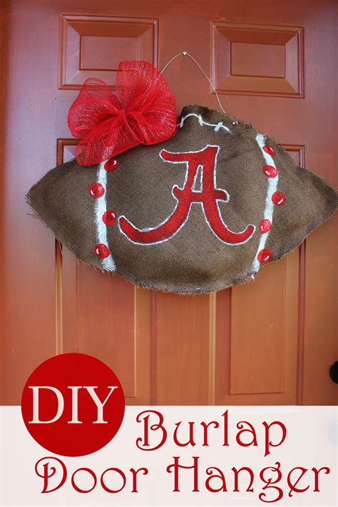 Diy Burlap Football Door Hanger