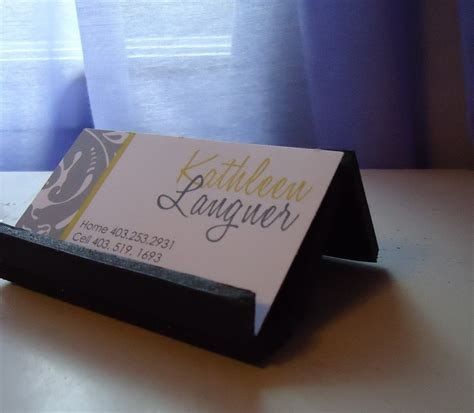 Diy Business Card Holder For Desk