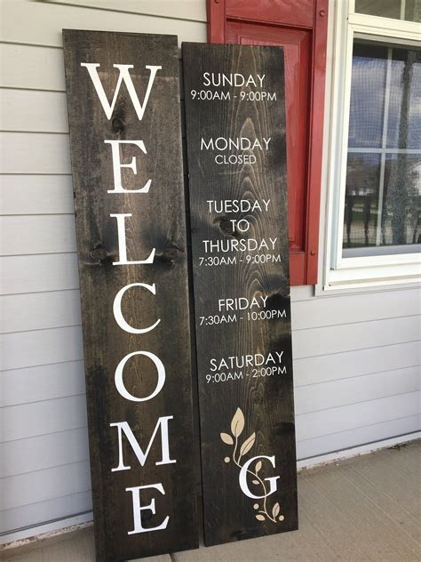Diy Business Hour Door Sign
