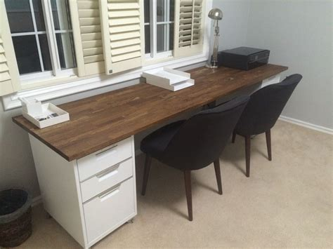Diy Butcher Block Desk Ikea