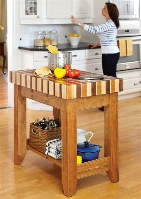 Diy Butcher Block Island Cart