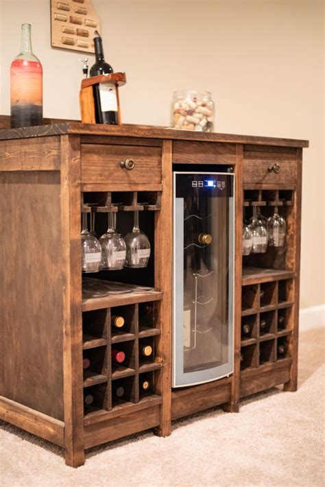 Diy Cabinet For Wine Fridge