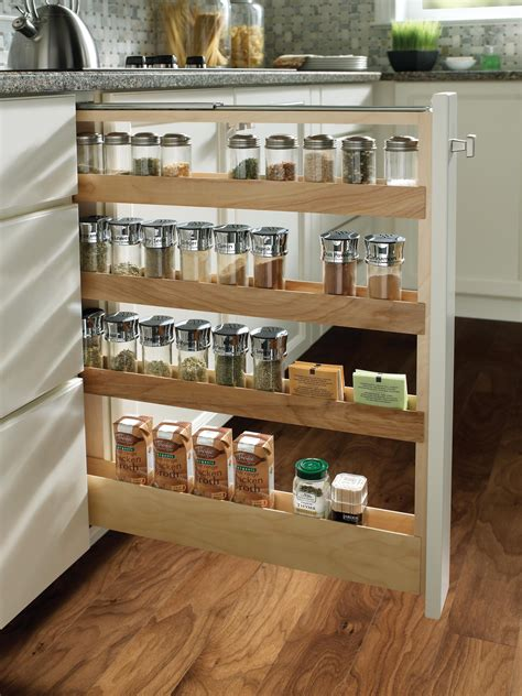 Diy Cabinet Pull Out Spice Rack