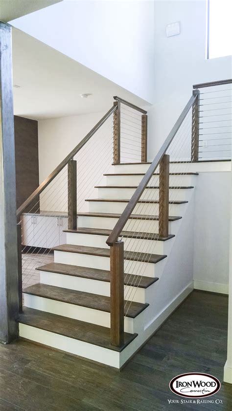 Diy Cable Rail Interior Stairs