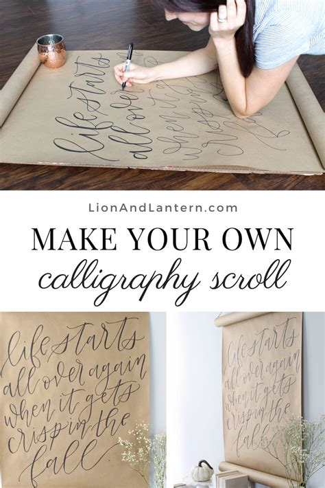 Diy Calligraphy Wall Art