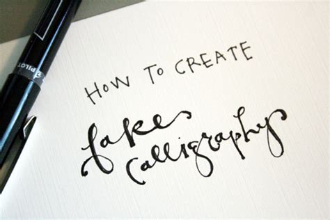 Diy Calligraphy Writing