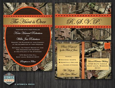 Diy Camo Wedding Invitations