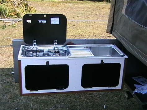Diy Camper Trailer Tailgate Kitchen