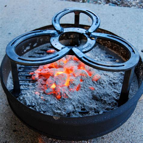 Diy Camping Fire Pot Stand Charcoal