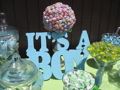 Diy Candy Table At Boys Baby Shower