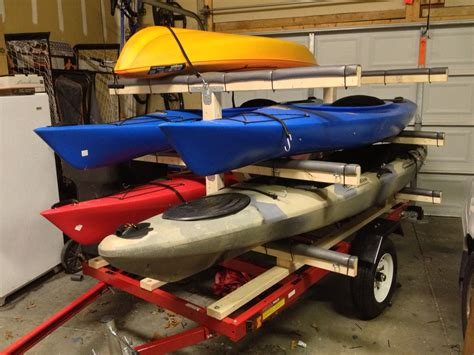 Diy Canoe Rack For Trailer