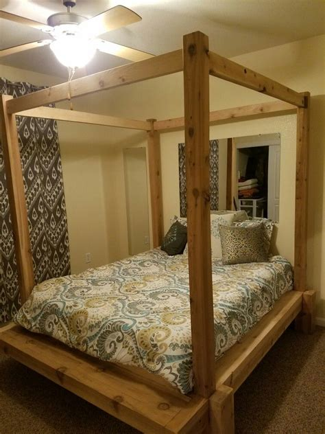 Diy Canopy Bed Frame Cross Middle