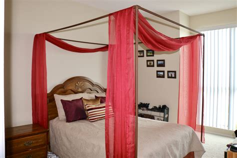 Diy Canopy Bed Using Plumbing